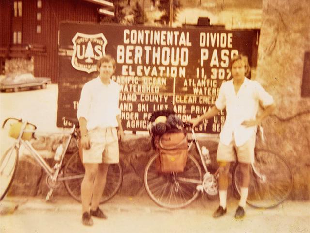 Bill Simons of Cycling San Antonio rode cross country, Summer 1973