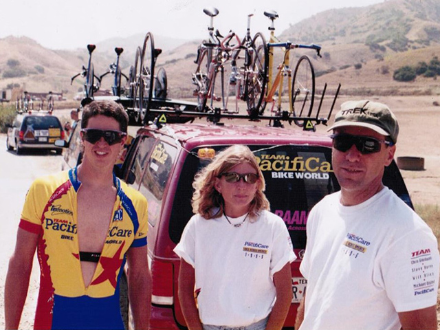 Bill & Bonnie Simons of Cycling San Antonio at Race Across America (RAAM), Summer 1995